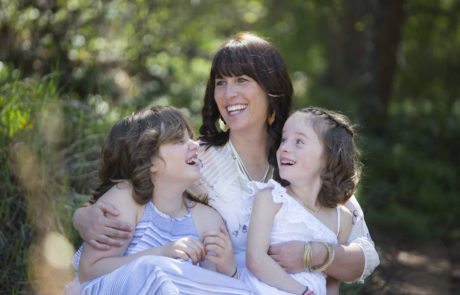 Founder Kara Weigand and her lovely daughters